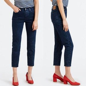 Levis Wedgie Jeans Intergalactic Size 29 Dark Blue